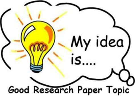 Finding research paper topic